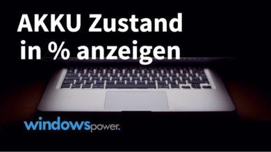 Photo of Akku Zustand des Laptops in Prozent anzeigen lassen
