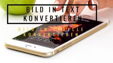 Bild von Bild in Text konvertieren