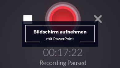 Bild von Bildschirm aufnehmen mit PowerPoint