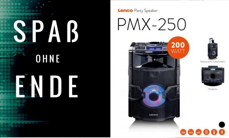 Spass ohne Ende Lenco PMX 250 Partylautsprecher
