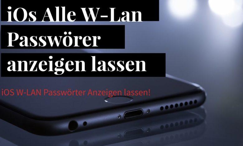 iPhone alle W LAN Passwoerter anzeigen lassen