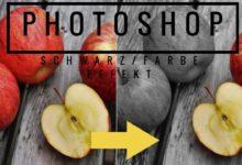 Bild von Photoshop – Schwarz Weiß/Farbe Effekt