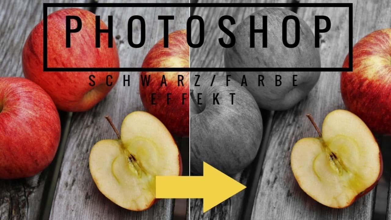 Photoshop-Schwarz-WeissFarbe-Effekt