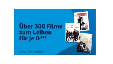 Bild von Amazon Prime Vide: Über 300 Filme zum Leihen für je 0,97€