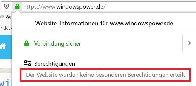 Firefox keine berechtigung