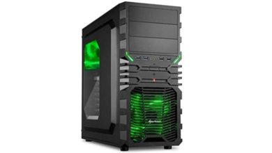 Bild von Sharkoon VG4-W Grün PC-Gehäuse mit Window Kit für 23,99 €
