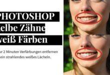 Bild von Photoshop – gelbe Zähne weiß Färben