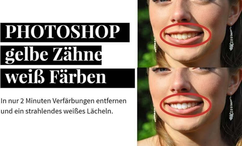 photoshop gelbe zaehne weiss faerben 1