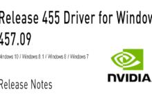 Bild von Nvidia GeForce Treiber Version 457.09