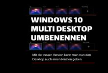 Bild von Windows 10 – Multidesktop umbenennen