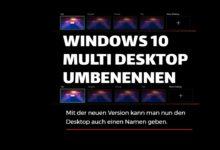 Bild von Windows 10 – Multidesktop umbenennen