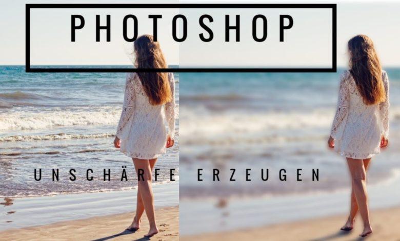 Adobe Photoshop Hintergrund unscharf machen