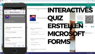 Interactives Quiz erstellen Microsoft Forms