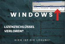 Bild von Lizenzschhlüssel Windows vergessen? Kein Problem!