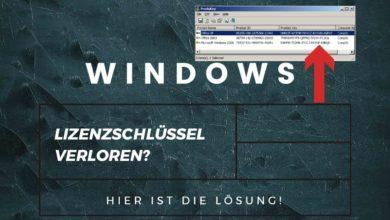 Lizenzschhluessel Windows vergessen Kein Problem