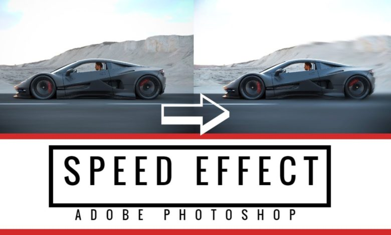 Speed Effect Geschwindigkeits Effekt Photoshop