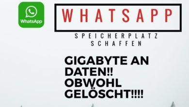 WhatsApp Speicherplatz schaffen