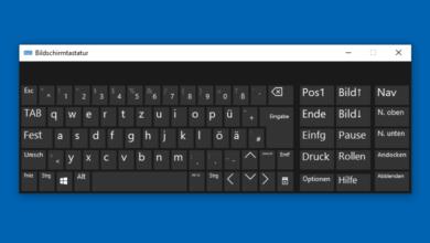 Bild von Bildschirmtastatur schneller Starten bei Windows 10