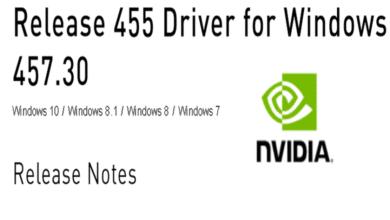 Bild von Nvidia GeForce Treiber Version 457.30