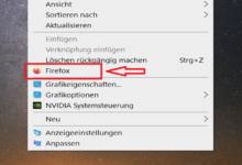Bild von Windows 10 – Programm ins Rechtsklick Kontextmenü vom Desktop einfügen