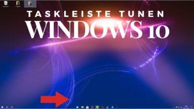 Taskleiste Tunen Windows 10