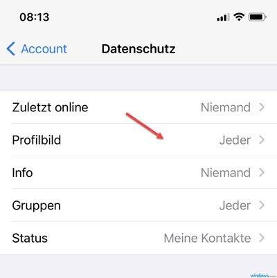 Profilbild anderen verbergen von whatsapp Kann ich