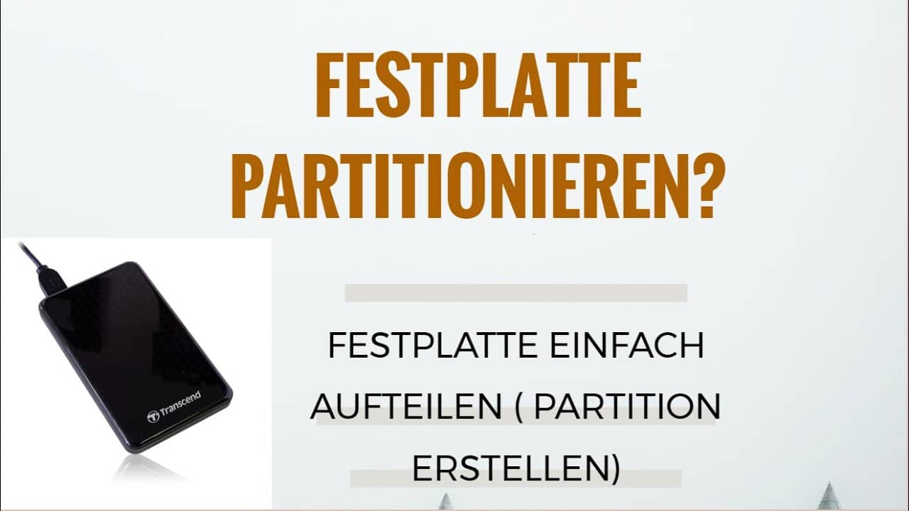 Festplatte partitionieren Tutorial