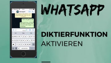 WhatsApp Diktierfunktion aktivieren