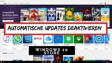 Automatische Updates deaktivieren Windows 10 Store