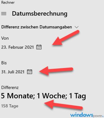 Datum berechnen
