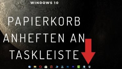 Papierkorb an Taskleiste anheften Windows 10