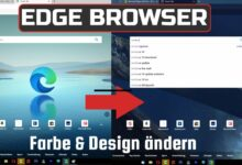 Edge browser change color and design