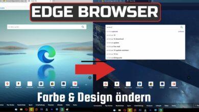 Edge Browser Farbe und Design aendern