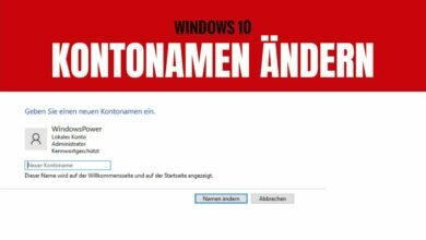 Windows 10 Benutzernamen aendern