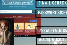 Wurde meine E Mail gehackt Passwort sicher genug Abzocke Webseiten