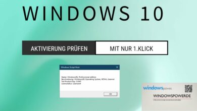 Windows 10 Aktivierung pruefen mit 1 Klick
