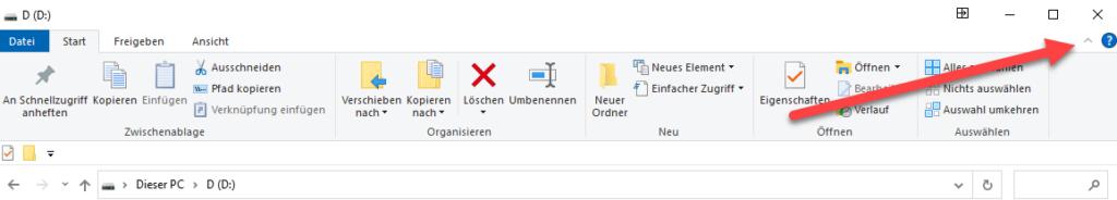 menueband aktivieren windows explorer