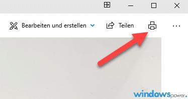 windows 10 fotoanzeige druckt