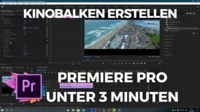 Kinobalken erstellen Premiere Pro unter 3 Minuten
