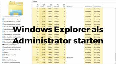 Windows Explorer als Administrator starten