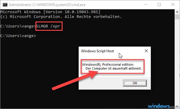 windows 10 aktivierung ueberpruefen