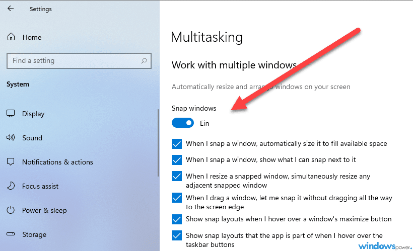 windows 11 multitasking dektivieren