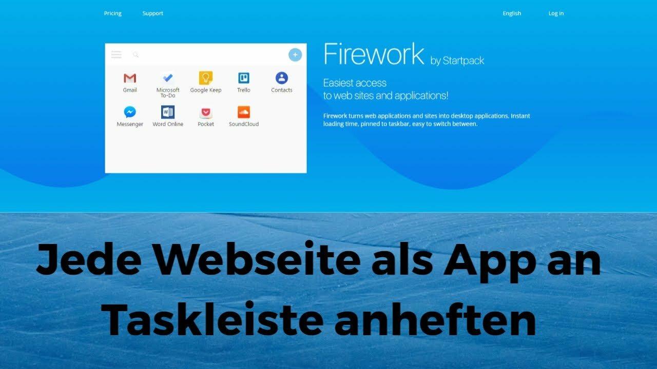 Jede Webseite als App an Taskleiste anheften