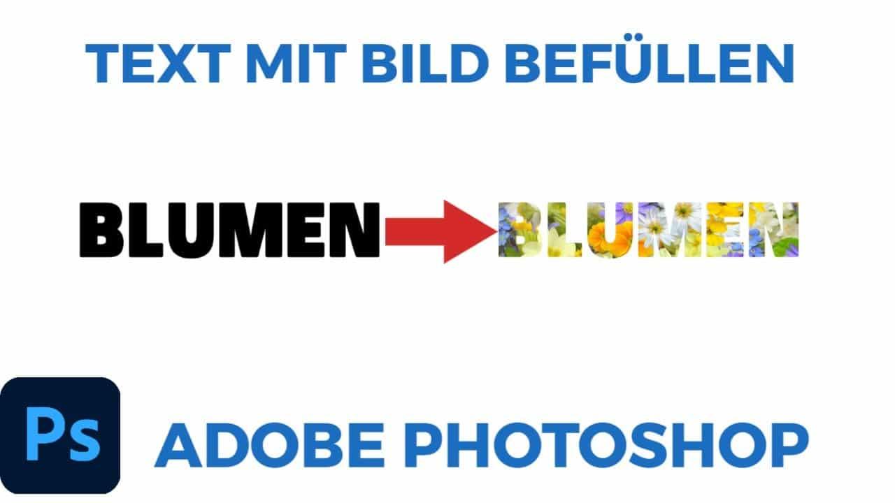 Text mit Bild befuellen Photoshop