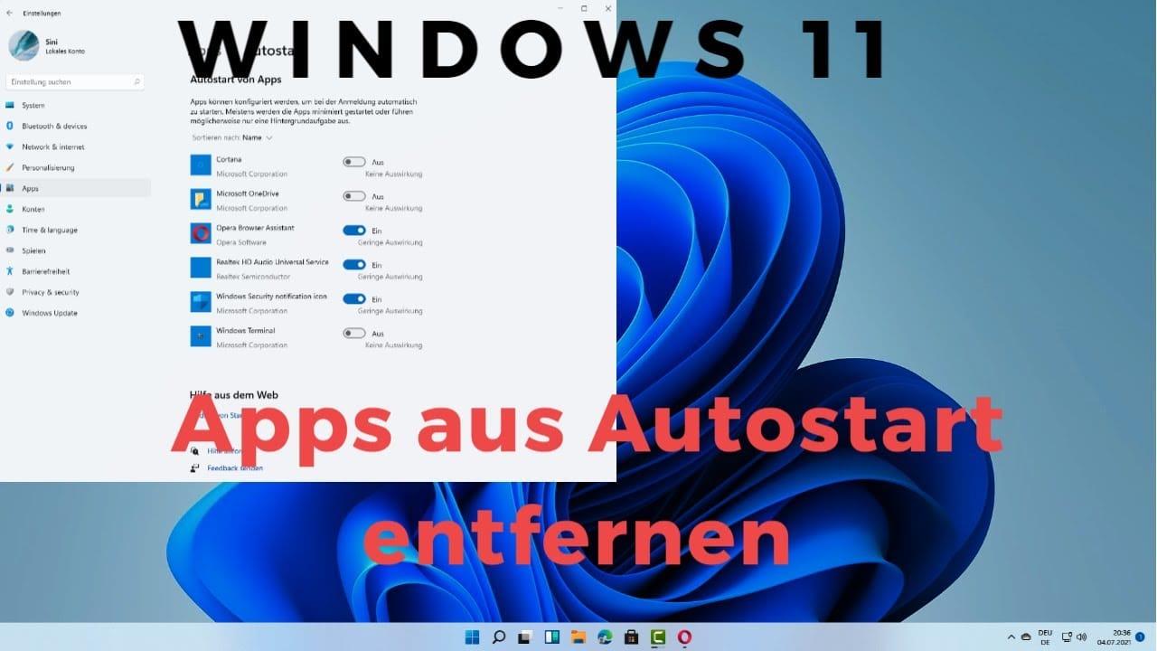Windows 11 Apps aus Autostart entfernen