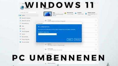 Windows 11 PC umbenennen