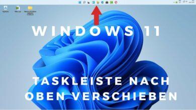 Windows 11 Taskleiste nach oben verschieben