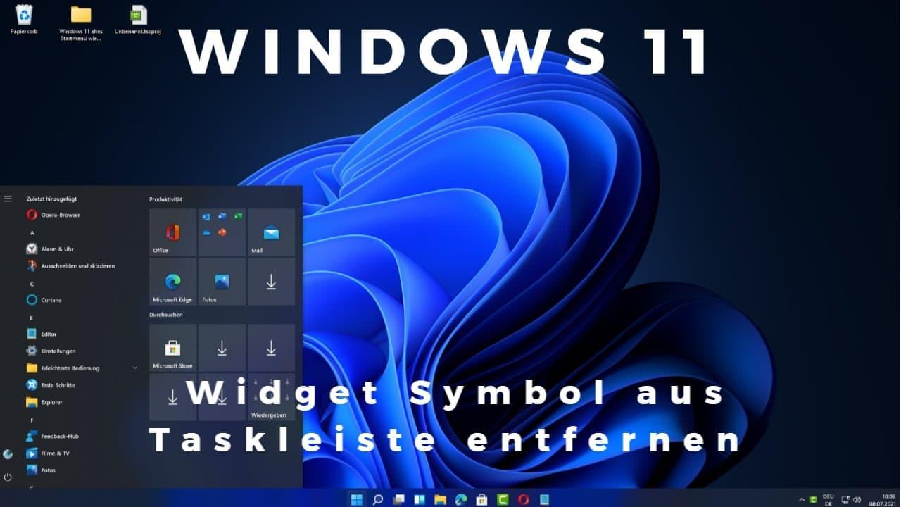 Windows 11 Widget Symbol aus Taskleiste entfernen