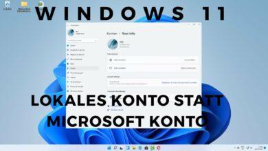 Windows 11 mit Lokalen Konto statt Microsoft Konto arbeiten