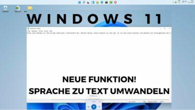 Windows 11 neue Funktion Sprache zu Text